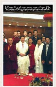Photo of Shugden followers celebrating Losar 2013 with Chinese Embassy. Friends identified on this photo lama Ajo from Serpom monastery, lama Gyatso who ger recently in Tibet to criticise HH Dalaï Lama there, as well as US Shugden leaders, Phuntsok and Dechen Tulku. Dechen Tulku is the man who appeared recently on very contraversed photo with Jamyang Norbu.