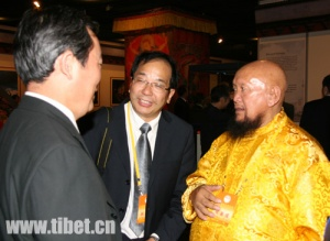 Gangchen Lama with vice chairman of China Association for Preservation and Development of Tibetan Culture (CAPDTC), Zhu Weiqun