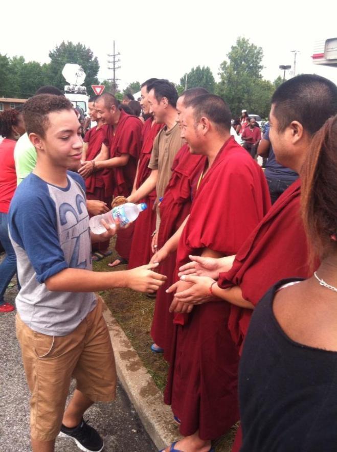 Tibetan Buddhist monks in Ferguson