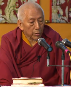 Samdhong Rinpoche at TCV Suja on 26th July, 2014