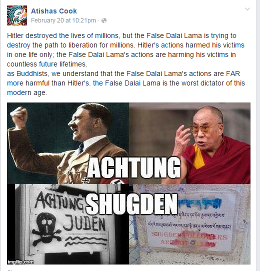 10  Atishas Cook the Dalai Lama is worse than Hitler