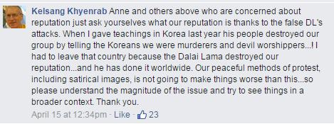 Kelsang Khyenrab on Korea NKT failure