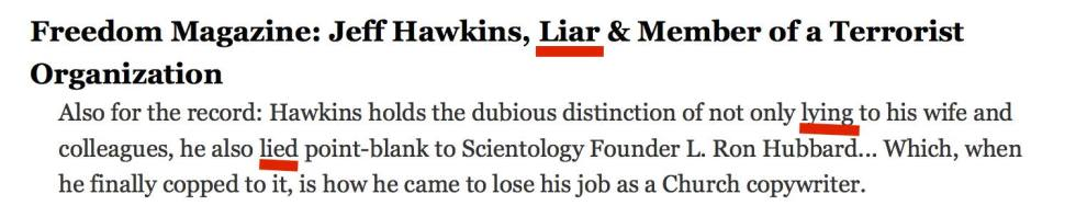 Scientology liar