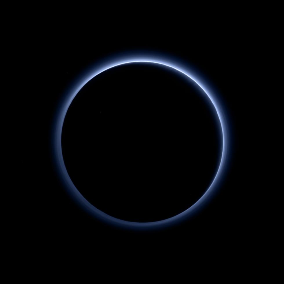 (c) NASA Pluto's Blue Sky