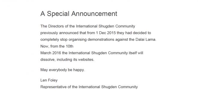 ISC announcement, made on 26th February 2016. www.internationalshugdencommunity.com
