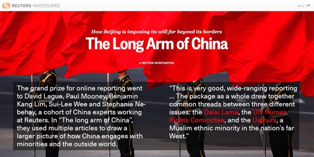 reuters long arm of china