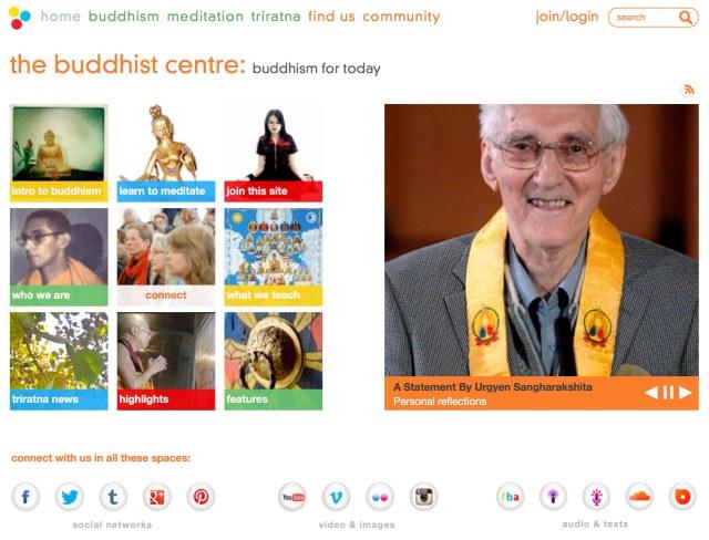triratnabuddhistcommunity-homepagescreenshot